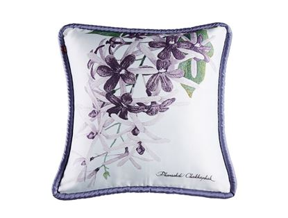 Picture of CUSHION COVER-FRUIT&FLOWER PURPLE WREATH Size(18 x 18in.)
