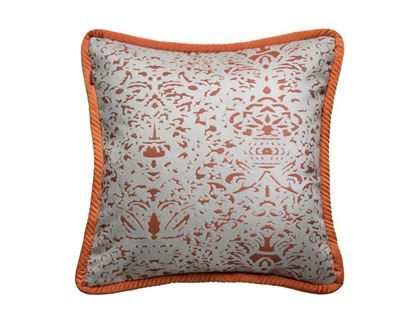 Picture of CUSHION COVER -ROMANO ORANGE RUST Size (18 x 18 in.)