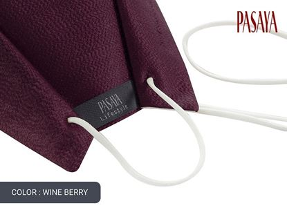 Picture of PASAYA Fabric Mask หน้ากากผ้าไหม (35 WINE BERRY)