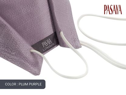 Picture of PASAYA Fabric Mask หน้ากากผ้าไหม (37 PLUM PURPLE)
